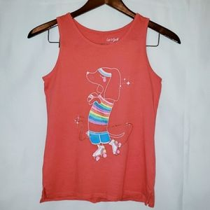 Cat & Jack Girls Coral Tank Top Size S